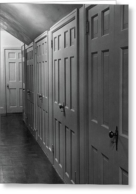 Hallway With Closet Doors Greeting Card by Scott Hyde