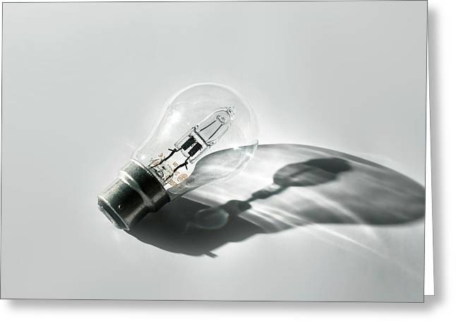 Halogen Energy Saving Light Greeting Card by Robert Brook