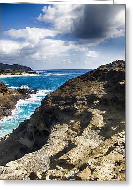Halona Blowhole Lookout- Oahu Hawaii V2 Greeting Card by Douglas Barnard