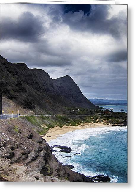 Halona Blowhole Lookout- Oahu Hawaii V3 Greeting Card by Douglas Barnard