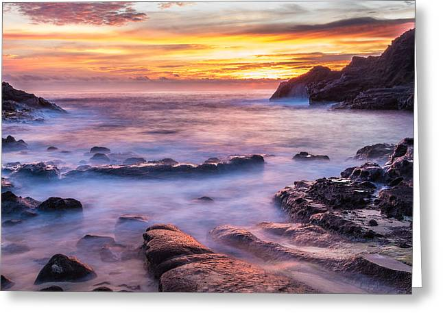 Halona Cove Sunrise 3 Greeting Card