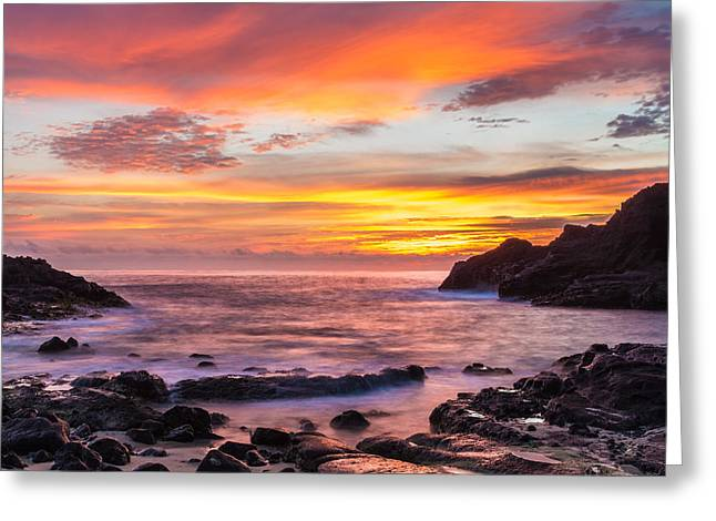 Halona Cove Sunrise 4 Greeting Card