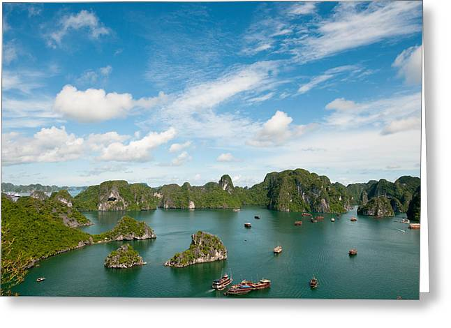 Greeting Card featuring the photograph Halong Bay Vietnam by Michalakis Ppalis