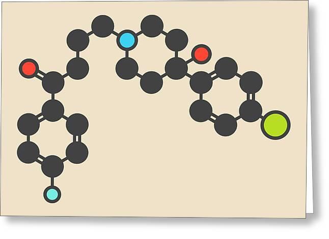 Haloperidol Antipsychotic Drug Molecule Greeting Card