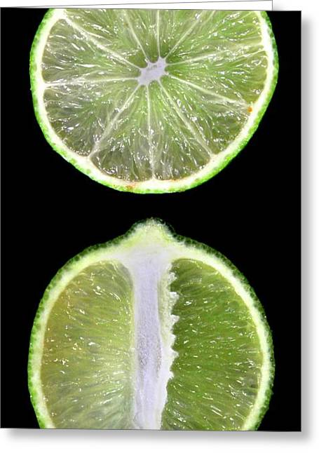 Halved Limes Greeting Card by Thomas Fester
