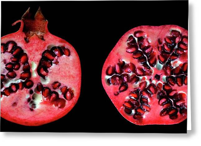 Halved Pomegranates Greeting Card by Thomas Fester
