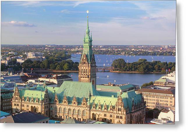 Hamburg City Hall Greeting Card by Marc Huebner