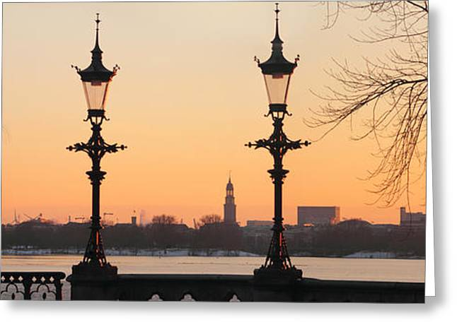Hamburg Romance Greeting Card by Marc Huebner
