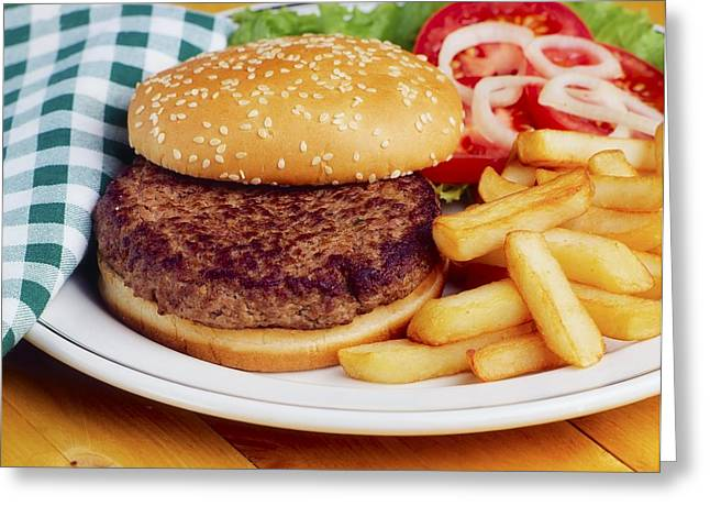 Hamburger & French Fries Greeting Card by The Irish Image Collection