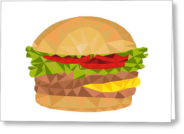 Hamburger Low Polygon Greeting Card