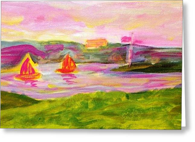 Hamilton Harbour Greeting Card by Rashne Baetz
