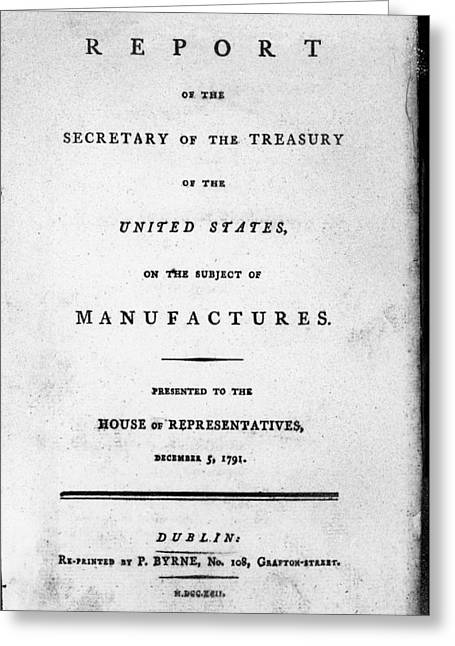 Hamilton Title Page, 1791 Greeting Card