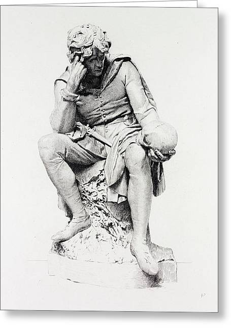 Hamlet, From The Statue By Lord Ronald Gower Greeting Card