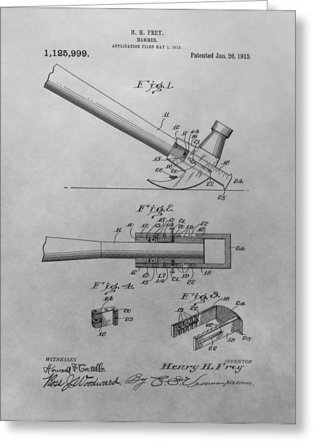 Hammer Patent Greeting Card by Dan Sproul