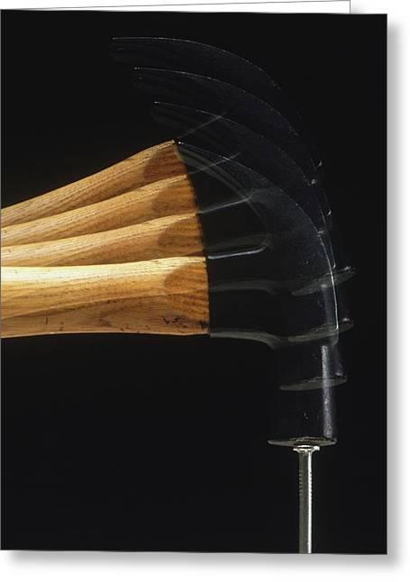 Hammer Striking Nail Greeting Card by Dorling Kindersley/uig