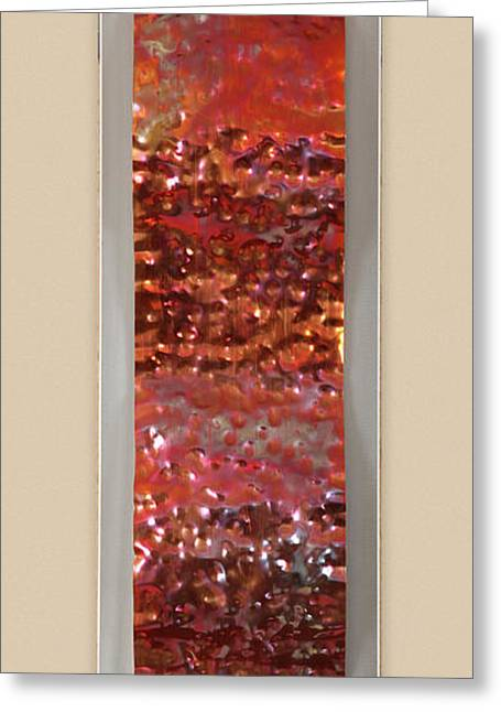 Hammered Greeting Card by Rick Roth