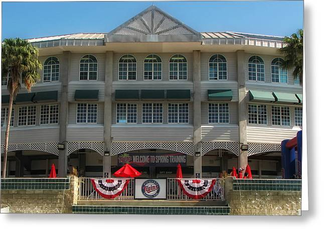 Hammond Stadium Greeting Card by Tom Gort