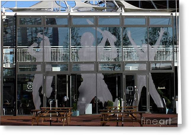 Hampshire County Cricket Glass Pavilion Greeting Card by Terri Waters