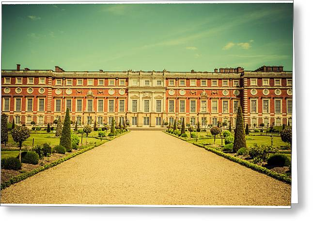 Hampton Court Palace Gardens As Seen From The Knot Garden Greeting Card by Lenny Carter