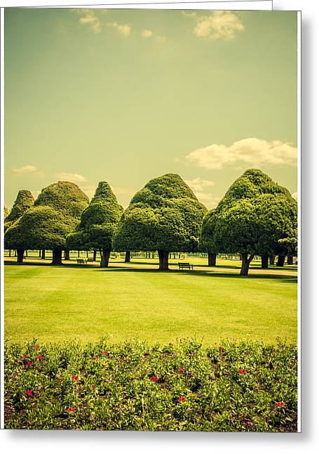 Hampton Court Palace Gardens Summer Colours Greeting Card by Lenny Carter