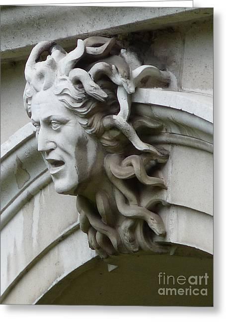 Hampton Court Palace Medusa Greeting Card by Deborah Smolinske