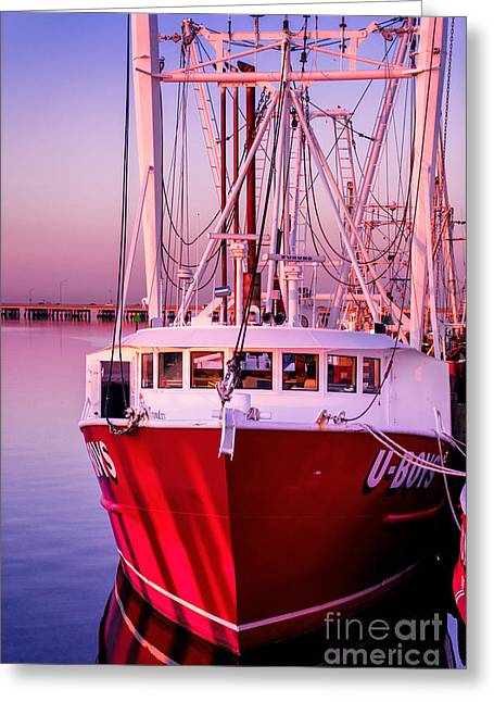 Hampton Fishing Boat Greeting Card by Jerry Fornarotto