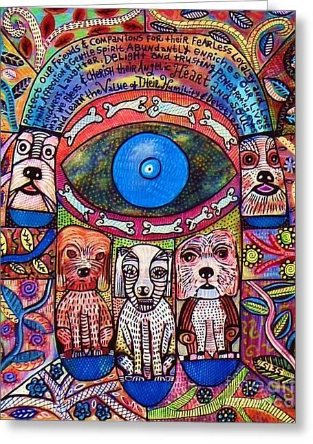 Hamsa Dog Blessing' Greeting Card