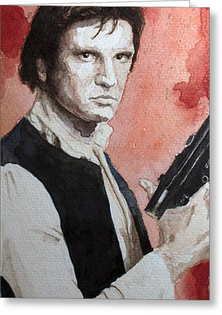 Han Solo Greeting Card by David Kraig