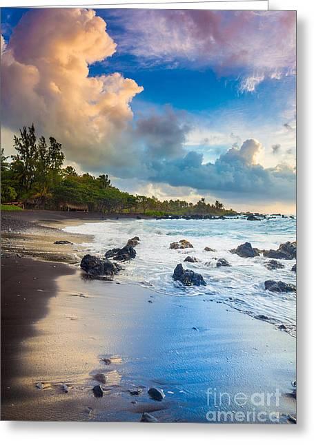 Hana Bay Palette Greeting Card by Inge Johnsson