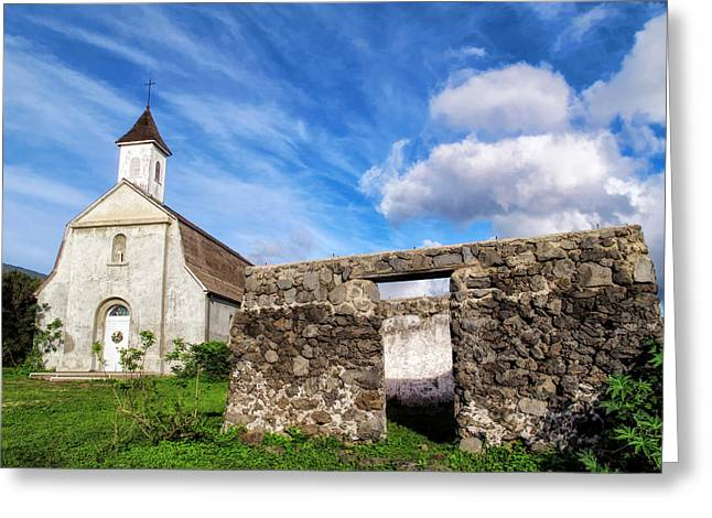 Greeting Card featuring the photograph Hana Church 8 by Dawn Eshelman