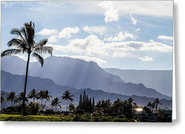 Hanalei Greeting Card by April Reppucci