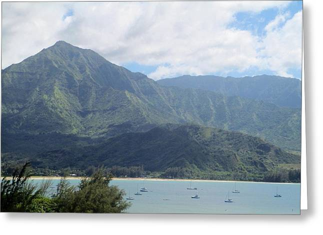 Greeting Card featuring the photograph Hanalei Bay by Alohi Fujimoto