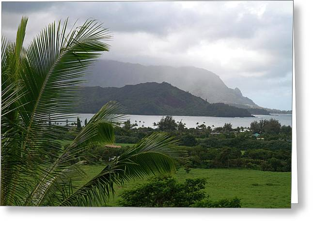 Hanalei Bay On The North Shore Of Kauai Greeting Card by David R. Frazier