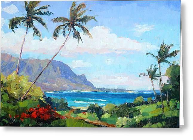 hanalei Bay Resort View Greeting Card