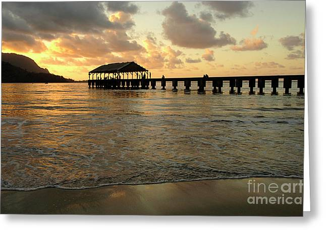 Hanalei Beach Greeting Card by Bob Christopher