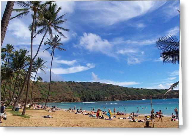 Hanauma Bay Oahu Hawaii Greeting Card