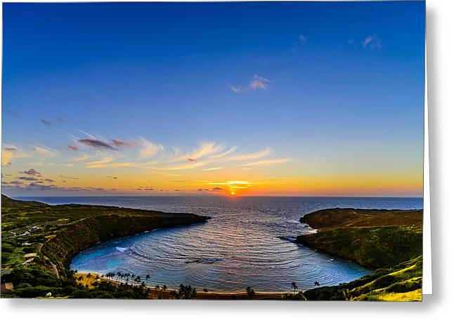 Hanauma Bay Sunrise Greeting Card