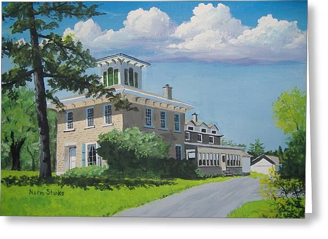 Hanchett-bartlett Homestead Greeting Card by Norm Starks