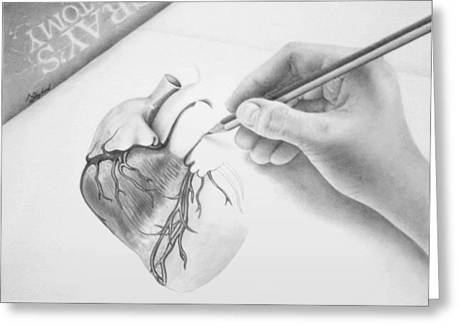 Hand Drawn Heart Greeting Card by Sarah Sutherland
