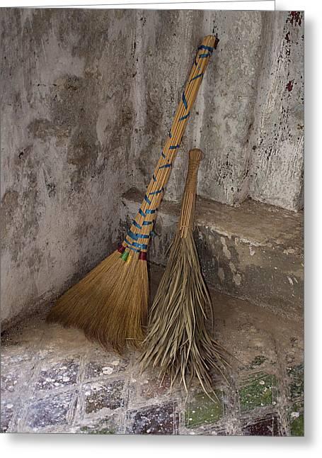Hand Made Brooms At Shwe Yan Pyay Greeting Card