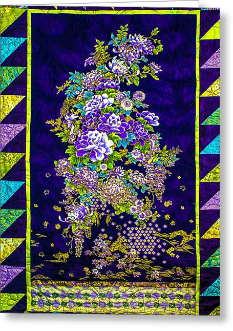 Hand Made Quilt Greeting Card by Sherman Perry