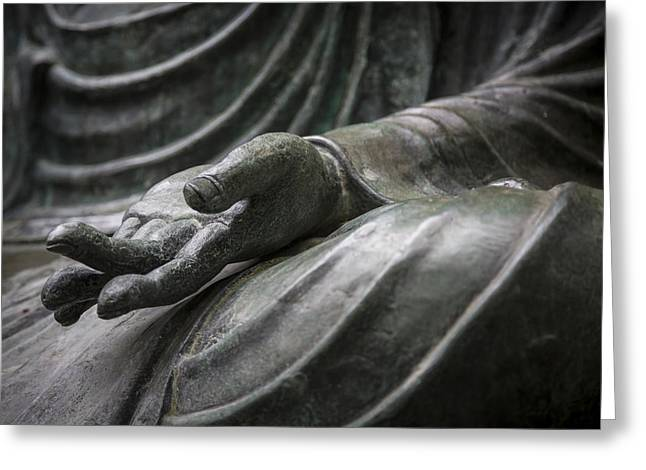 Hand Of Buddha - Japanese Tea Garden Greeting Card by Adam Romanowicz
