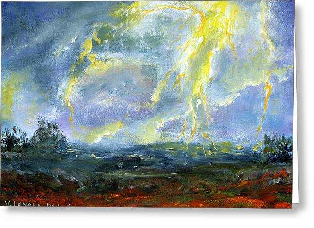 Hand Painted Art Louisiana Storm Greeting Card