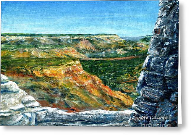 Hand Painted Palo Duro Texas Landscape Greeting Card
