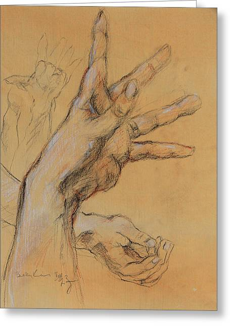 Hand Study 1 Greeting Card by Becky Kim