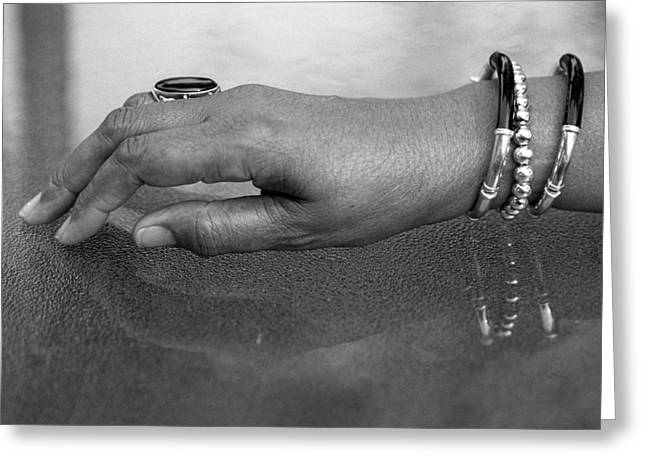 Hand Study  Greeting Card by Harold E McCray