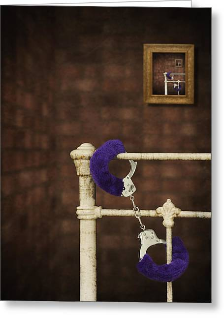 Handcuffs Greeting Card by Amanda Elwell