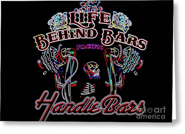 Handle Bars In Neon Greeting Card