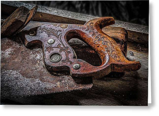 Handle On The Saw  Greeting Card by Ray Congrove