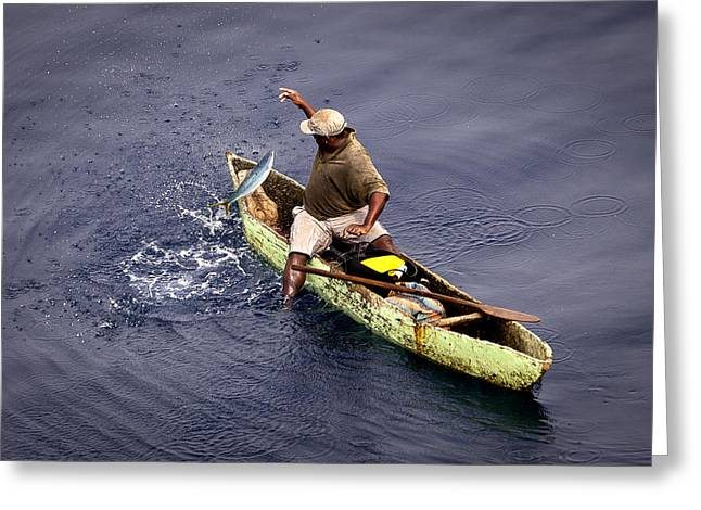 Handline Fisherman Greeting Card